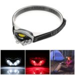 Outdoor Water Resistant Headlight 3 Modes Headlamp 6 LEDs 1200 Lumens