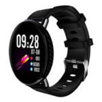 Makibes K1 Smartwatch 1.3 Inch Round IPS Screen Multi-sport Functions IP68 Water Resistant Heart Rate Blood Pressure Monitor – Black