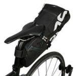 ROSWHEEL 131414-A Bicycle Seatpost Bag 8L Cycling Rear Pack Tight Extendable Bag – Black
