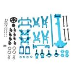 WLtoys 1/18 A949 A959 A969 A979 K929 High-speed Off-road RC Car Upgraded Metal Parts Kit – Blue