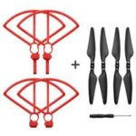 Propeller Guard Quick Release Foldable Propeller With Screwdriver Spare Parts Set For Hubsan H117S Zino RC Drone – Red
