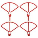 4PCS Propeller Guard With Raised Legs Spare Parts Set For Hubsan H117S Zino RC Drone Quadcopter – Red