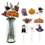 New                                                       8 pcs Halloween Themed Drinking Straws Recyclable Decorative Festival Ornament