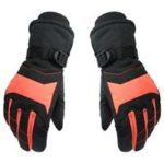 New                                                       Winter Adult Thicken Warm Ski Gloves Ultralight Waterproof Riding Gloves Size S – Orange