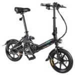 New                                                       FIIDO D3 Folding Electric Moped Bike Max 25km/h Three Riding Modes 5.2Ah Lithium Battery 14 Inch Tire – Black