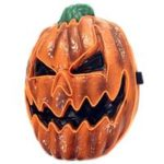 New                                                       Halloween Scary LED Mask Pumpkin Lantern EL Wire Glowing LED Cosplay Mask For Festival – B