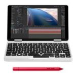 New                                                       One Netbook One Mix 2S Yoga Pocket Laptop Intel Core M3-8100Y Dual Core Touch ID (Silver) + Original Stylus Pen (Red)
