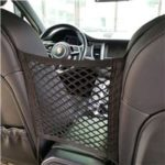 New                                                       2pcs Car Seat Spacing Elastic Storage Net Bag Double Layer – Black