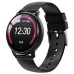 New                                                       Makibes E38 Smartwatch 1.22 Inch IPS Colorful Screen IP67 Waterpoof Heart Rate Blood Pressure Monitor Silicone Strap – Black