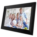 New                                                       Scishion P100 10.1 Inch WiFi IPS 16:9 Digital Picture Frame 16GB 1280 x 800 Video Play SD Card Slot – Black