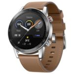 New                                                       Huawei Honor Magic 2 Minos 46MM Smartwatch 1.39 Inch AMOLED 454*454 Pixels Display 5ATM Water Resistant GPS Global Version – Brown