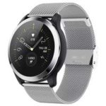 New                                                       Makibes Z03 Smart Watch 1.22 Inch TFT Screen IP67 Water Resistant ECG PPG Measurement Heart Rate Blood Pressure Sleep Monitor Metal Strap – Silver