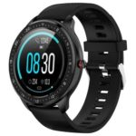 New                                                       Makibes Z06 Smartwatch 1.3 Inch TFT Screen IP67 Waterproof Blood Pressure Heart Rate Sleep Monitor Silicone Strap – Black