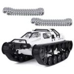 New                                                       SG 1203 1:12 2.4G Military Police Drift RC Tank 12km/h High-speed RC Vehicle RTR With Metal Plastic Track – White