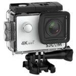 New                                                       SJCAM SJ4000 AIR 4K Action Camera WiFi 2.0 Inch LCD Screen 12MP Sensor 170 Degree HD Wide Angle Len With Waterproof Case – Silver