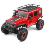 New                                                       Wltoys 104311 JEEP 1/10 2.4G 4WD Electric Brushed Off-road Rock Crawler Climbing Vehicle RC Car With LED Light RTR – Red