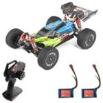 New                                                       Wltoys 144001 1/14 2.4G 4WD 60km/h Electric Brushed Off-Road Buggy RC Car RTR Two Batteries – Green
