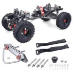 New                                                       Upgrade Straight Bridge 313mm Wheelbase CNC Aluminum And Carbon Fiber Chassis For 1/10 AXIAL SCX10 RC Rock Crawler Climbing Vehicle