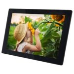 "New                                                       WF1010 10.1"" WiFi Cloud Digital Photo Frame 800×1280 IPS Touch Screen 1GB/16GB Facebook/Twitter/Email/APP Sharing Time and Weather Display – Black"