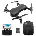 New                                                       JJRC X12 AURORA 5G WIFI 1.2km FPV GPS Foldable RC Drone With 1080P 3Axis Gimbal Ultrasonic Optical Flow Positioning RTF – Black Two Batteries With Bag
