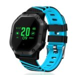 New                                                       Makibes K5 Smart Bracelet 1″ Color Screen Blood Pressure Blood Oxygen Heart Rate Monitor IP68 Water Resistant – Blue