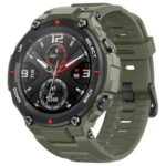 New                                                       Amazfit T-rex Smartwatch 1.3 Inch Round AMOLED Screen 14 Sports Modes 5ATM Water Resistant GPS Positioning – Army Green