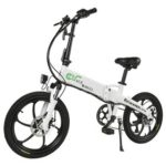 New                                                       CMACEWHEEL GT20 Folding Electric Bike 20 Inch Tire 350W Motor Max Speed 30km/h Up To 30km Range Disc Brake – White
