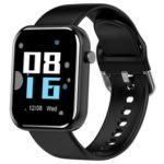 New                                                       Makibes Z11 Smartwatch 1.54 Inch IPS Screen Blood Pressure Heart Rate Monitor Sleep Tracker IP68 Waterproof Silicone Strap – Black