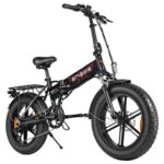 New ENGWE EP-2 500W Folding 20″ Fat Tire Electric Bike with 7 Speeds and Dual Disc – Black