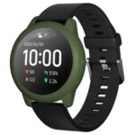 New Soft Silicone Protective Shell For Xiaomi Haylou Solar LS05 Smartwatch – ArmyGreen
