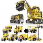 New XINGBAO 13002 8 in 1 Building Block Excavator Puzzle Toys