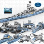 New XINGBAO 13004 USS Missouri 8 in 1 Building Block Puzzle Toys