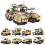 New XINGBAO 13005 8 in 1 Building Block Mirage Tank Puzzle Toys