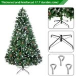 New 6FT Bionic Decoration Christmas Tree 920 Branches PVC Leaves Metal Frame With Pine Cones – Dark Green