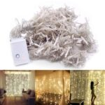 New 3m x 3m 110V LED Decorative Tandem Light 300 Bulbs Outdoor Christmas Decoration Wedding Curtain Lights – Warm White Light