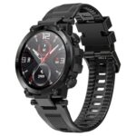 New Makibes D13 Smartwatch 1.3″ TFT HD Full Round Screen Heart Rate Oximetry Monitoring Sleep Monitor IP68 Sports Waterproof APP Supports Multiple Languages – Black