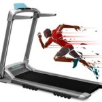 New XQIAO OVICX Q2S Smart Folding Walking Running Machine Ultra-Thin Treadmill for Workout, Fitness Training Gym Equipment, Exercise Indoor & Outdoor With Smart Deceleration,  APP Control, LED Display – EU Version