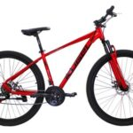 New Kugel H-Hybrid 29 Inch Mountain Bike Aluminum Alloy Frame Material Shimano Gear Front Suspension and Disk Brakes – Red
