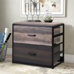 New File cabine/MDF Vertical Filing Cabinet with 2 Drawers -Brown