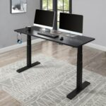New Home Office Standing Computer Desk Height Adjustable Electric Lifting System – Black