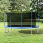 New 【Not allowed to sell to Walmart】16FT Round Trampoline with Safety Enclosure Net & Ladder, Spring Cover Padding, Outdoor Activity(原SM000050CAA)
