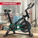 New Stationary Indoor Cycling Bike for Home Cardio Workout, Belt Drive Exercise Bicycle with LCD Monitor