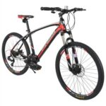 New Finiss 26 Inch Bike SHIMANO 24-speed Shift Aluminum Alloy Frame Disk Brakes – Black/Red