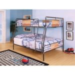 New ACME Brantley Full-Over-Queen Size Bunk Bed Frame with Ladder, and Metal Slats Support, No Spring Box Required (Frame Only) – Bronze