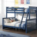 New ACME Harley Twin-Over-Full Size Bunk Bed Frame with 2 Storage Drawers, and Wooden Slats Support, No Spring Box Required (Frame Only) – Blue