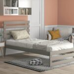 New Twin-Size Platform Bed Frame with Headboard and Wooden Slats Support, No Box Spring Needed (Only Frame) – Gray