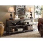 New ACME Gorden 72″ Console Table with 2-Layer Open Shelf, for Entrance, Hallway, Dining Room, Kitchen – Weathered Oak