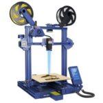 New LOTMAXX Shark V2 3D Printer, Dual Extruder, Laser Engraving, Dual-Color Printing – Blue