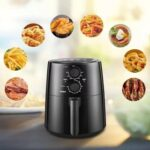 New COMFEE 1400W Air Fryer 3.7QT Capacity, with Timer, and Removable Non-stick Frying Basket, Surrounding 3D Wind Uniform Heating – Black