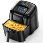 New KOIOS 1800W Air Fryer Oven 7.38L Capacity, Touch Screen Control, for Low-oil and Low-fat Frying, Roasting, Reheating – Black